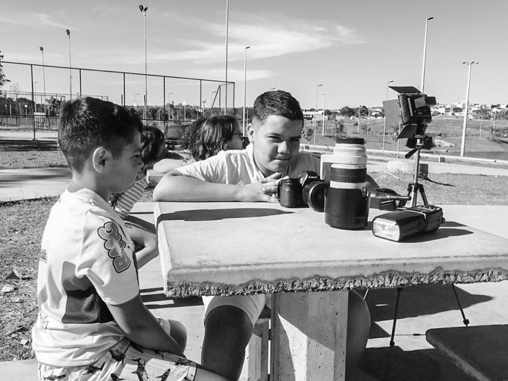 Aula de fotografia para crianças